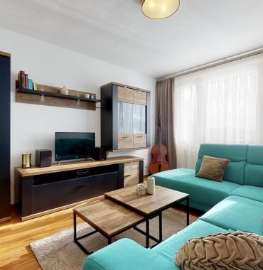 Štýlový 2 izbový byt s pekným výhľadom v Banskej Bystrici/3D interaktívna prehliadka